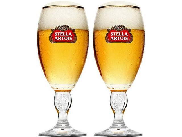 Jogo de Taças de Vidro para Cerveja Stella Artois 2 Unidades de 250ML