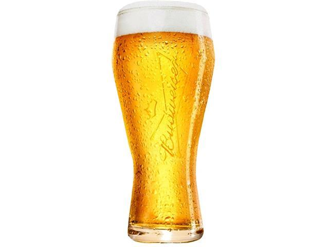 Jogo de Copos de Vidro para Cerveja Budweiser 4 Unidades de 400ML - 1