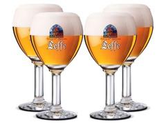 Jogo de Taças de Vidro para Cerveja Pasabahce Leffe 4 Unidades 330ML