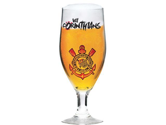 Taça Dunkel de Vidro para Cerveja Vai Corinthians 380ML