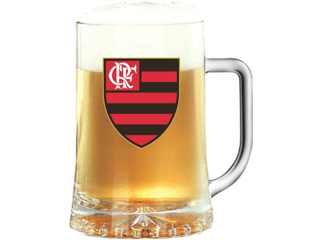Caneca Maxim de Vidro para Cerveja Flamengo 500ML