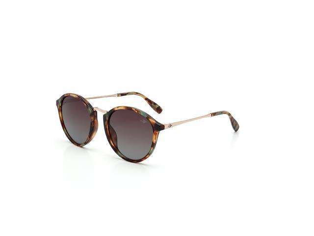 Óculos de Sol Mormaii Cali Azul e Marrom Brilho Lente Marrom Degradê