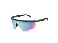 Óculos de Sol Mormaii Leap Preto Superior Degradê Azul Lente Espelhada