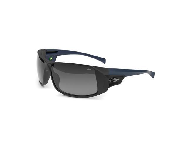 Óculos de Sol Mormaii Nazare Preto e Azul Fosco Lente Cinza Degradê
