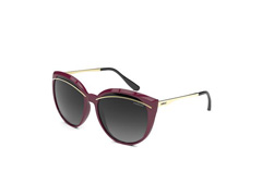 Óculos de Sol Colcci Amélia Bordo com Dourado Lente Cinza Degradê
