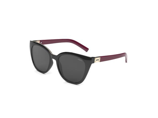 Óculos de Sol Colcci Jane Brilho Preto e Bordo Lente Cinza