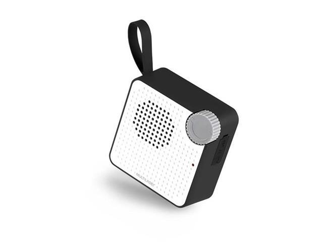 Caixa de Som Bluetooth Multilaser Speaker Resistente à Água Preta 5W