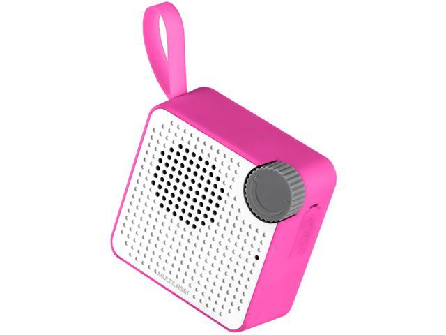 Caixa de Som Bluetooth Multilaser Speaker Resistente à Água Rosa 5W