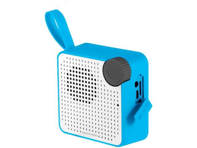 Caixa de Som Bluetooth Multilaser Speaker Resistente à Água Azul 5W - 2