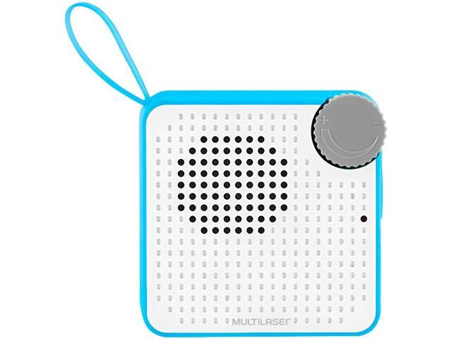Caixa de Som Bluetooth Multilaser Speaker Resistente à Água Azul 5W - 3