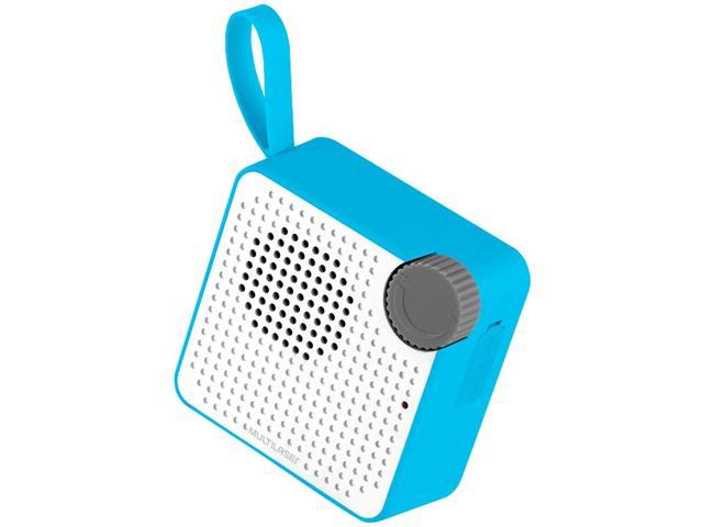 Caixa de Som Bluetooth Multilaser Speaker Resistente à Água Azul 5W