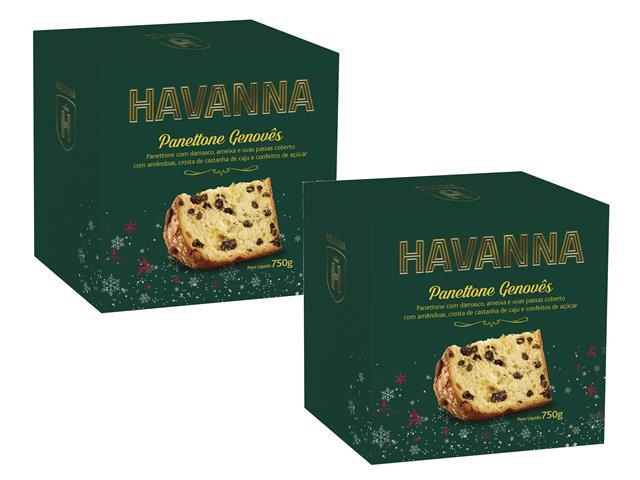 Combo Panettone Havanna Genovês com Frutas 2 Unidades 750g