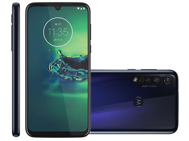 "Smartphone Motorola Moto G8 Plus 64GB 6.3""4G Câm 48+16+5MP Azul Safira"