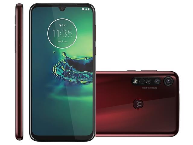 "Smartphone Motorola Moto G8 Plus 64GB 6.3""4G Câmera 48+16+5MP Cereja"