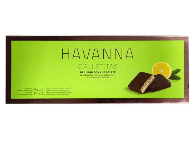 Combo Havanna Galletita Limón 12 Unidades e Doce de Leite 450g - 2