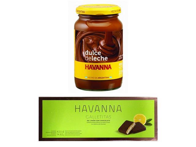 Combo Havanna Galletita Limón 12 Unidades e Doce de Leite 450g