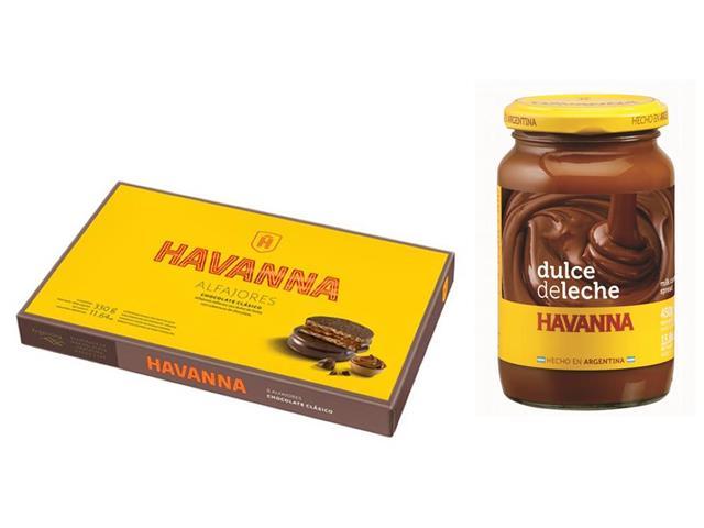 Combo Havanna Alfajores Chocolate 6 Unidades e Doce de Leite 450g