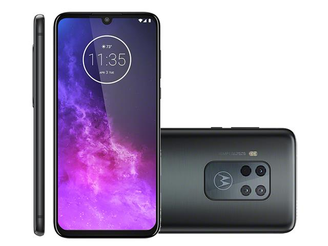 "Smartphone Motorola One Zoom 128GB 6.4"" Qu4d Câm 48+16+8+5MP Titanium"