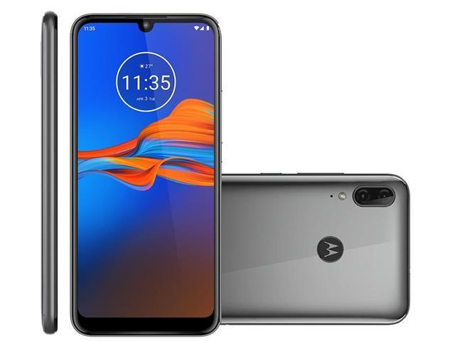 "Smartphone Motorola Moto E6 Plus 64GB 6.1""4G Câm 13+2MP Cinza Metálico"