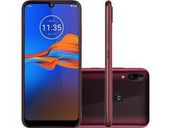 "Smartphone Motorola Moto E6 Plus 64GB 6.1""4G Câmera 13+2MP Rubi"
