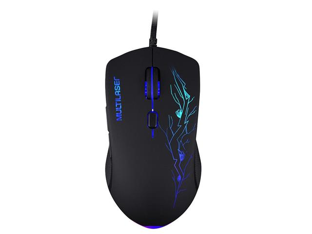 Mouse Gamer Multilaser 3200DPI 6 Botões 7 Cores LED