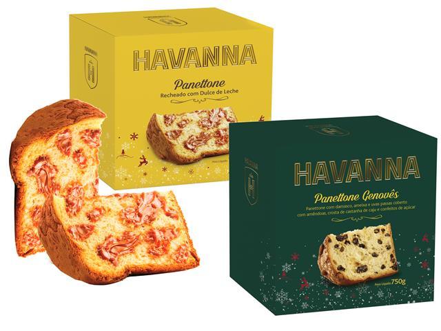 Combo Panettones Havanna Genovês + Doce de Leite