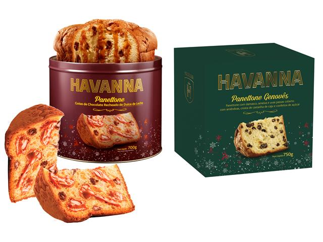 Combo Panettones Havanna Genovês + Lata Choco Doce de leite