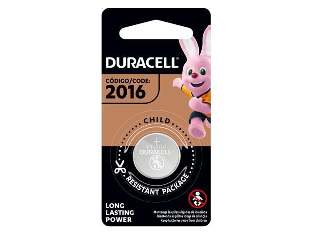 Bateria de Lítio Metálico Duracell CR 2016