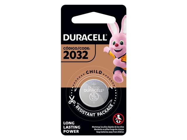 Bateria de Lítio Metálico Duracell CR 2032