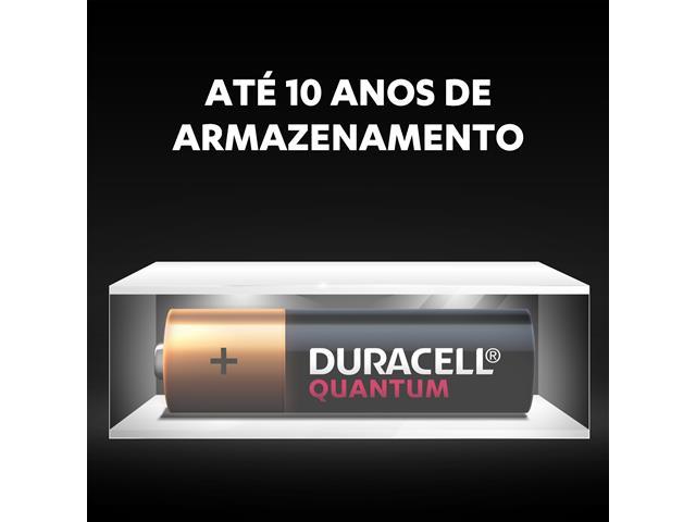 Pilha Alcalina AA Pequena Duracell Quantum com 2 Unidades - 2