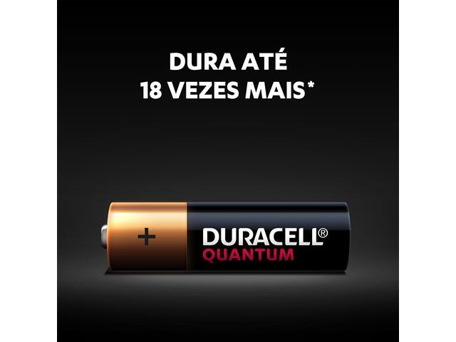 Pilha Alcalina AA Pequena Duracell Quantum com 2 Unidades - 3