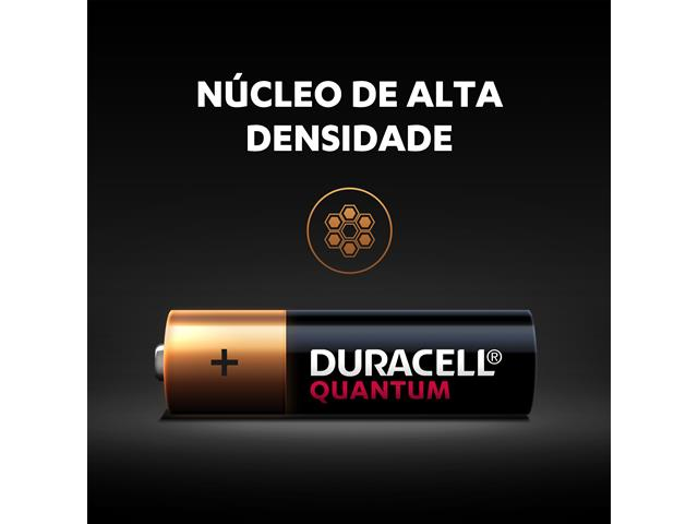 Pilha Alcalina AA Pequena Duracell Quantum Leve 4 Pague 3 Unidades - 3