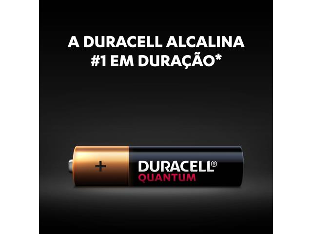 Pilha Alcalina AAA Palito Duracell Quantum Leve 4 Pague 3 Unidades - 4