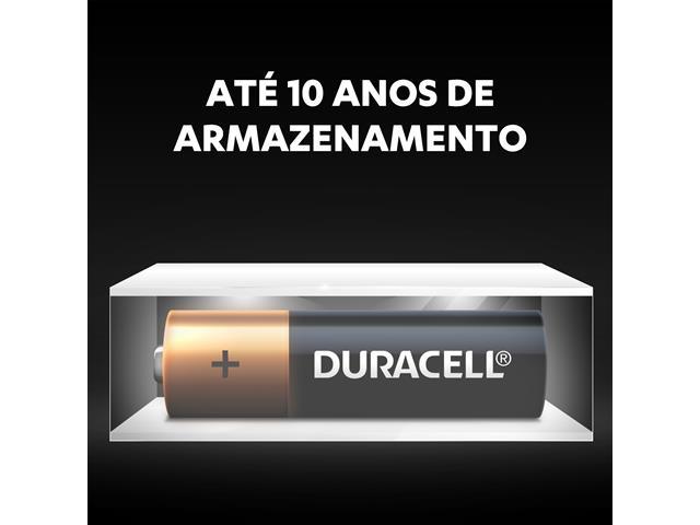 Pilha Alcalina AA Pequena Duracell com 4 Unidades - 4