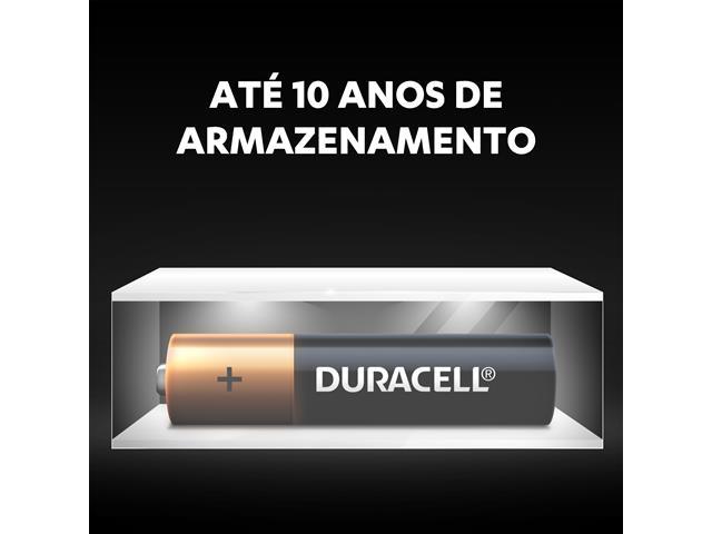 Pilha Alcalina AAA Palito Duracell com 2 Unidades - 4