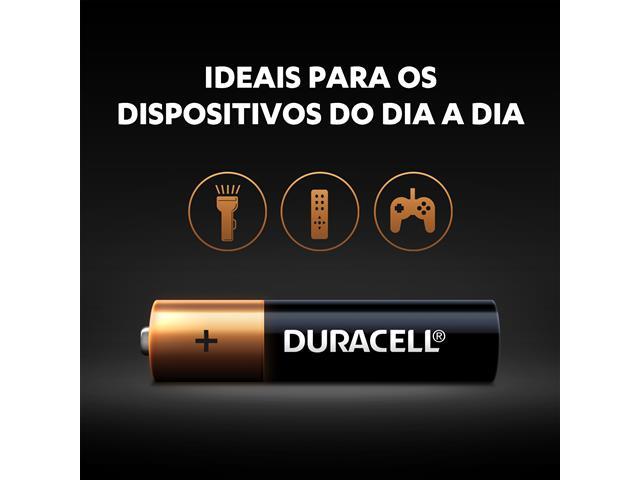 Pilha Alcalina AAA Palito Duracell com 4 Unidades - 2