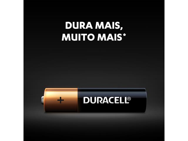 Pilha Alcalina AAA Palito Duracell com 4 Unidades - 3