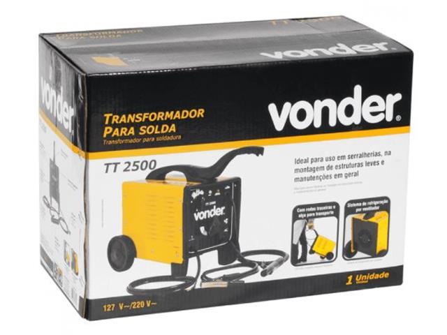 Transformador para Solda Elétrica Vonder TT-2500 Monofásico 110V/220V - 3