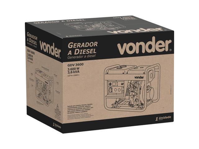 Gerador de Energia Vonder GDV 3600 à Diesel - 5