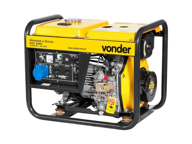 Gerador de Energia Vonder GDV 3600 à Diesel - 1