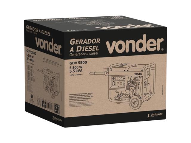 Gerador de Energia Vonder GDV 5500 à Diesel - 2