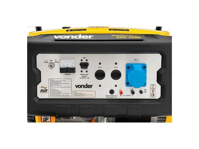 Gerador de Energia Vonder GGV7100 à Gasolina - 3