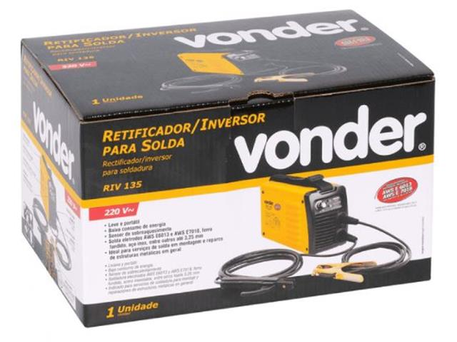 Retificador Inversor para Solda Vonder RIV135 Monofásico 220V - 5