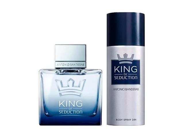 Kit Perfume Antonio Banderas King of Seduction Masc EDT 100ml + Deo
