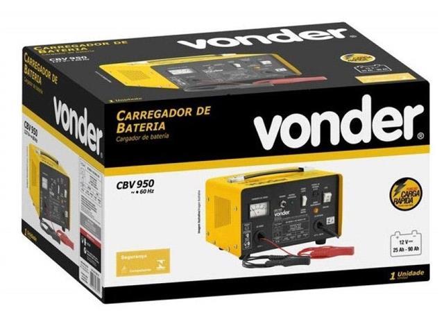 Carregador de Bateria Vonder CBV9501 Portátil 12V - 5