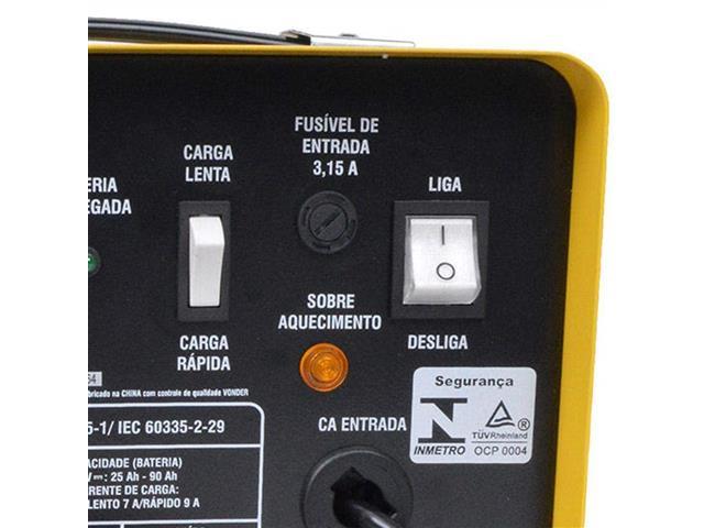 Carregador de Bateria Vonder CBV9501 Portátil 12V - 4