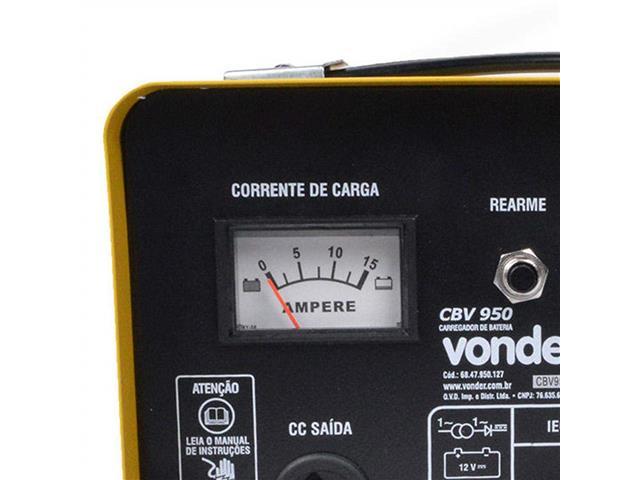 Carregador de Bateria Vonder CBV9501 Portátil 12V - 3