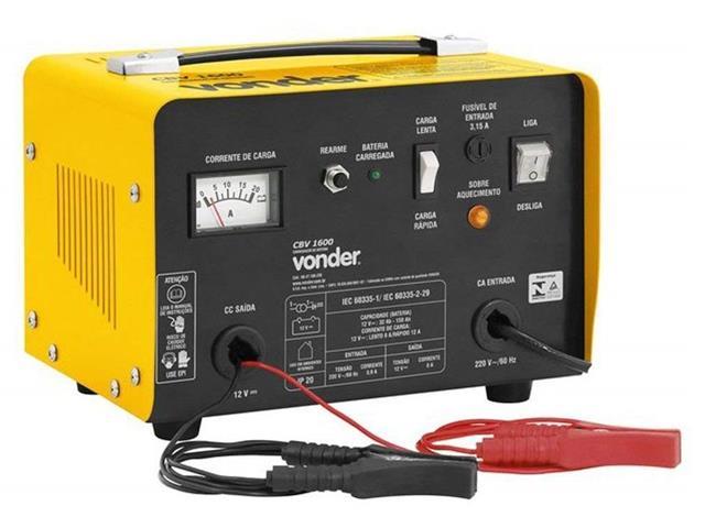 Carregador de Bateria Vonder CBV1600 Portátil 12V
