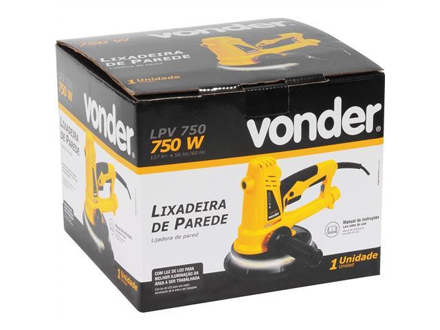 Lixadeira de Parede Vonder LPV 750 com Led 750W - 2