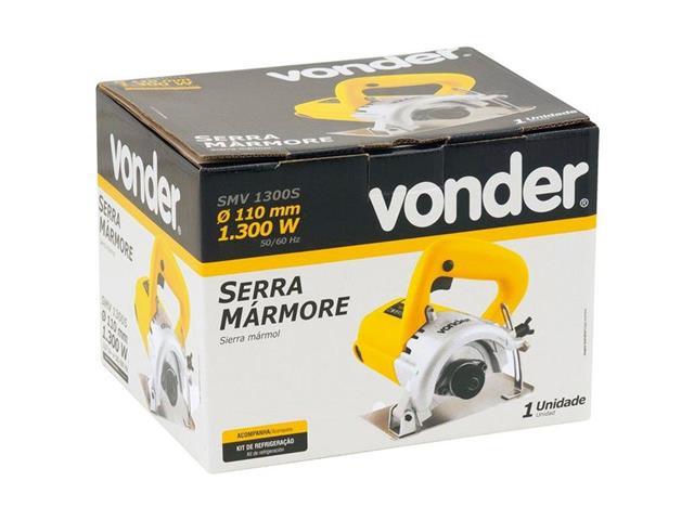 Serra Mármore Vonder sem Kit de Refrigeração 110 mm SMV 1300W - 1